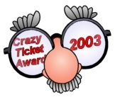 crazy parking ticket award 2003